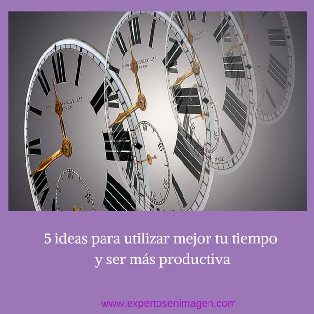 5 formas utilizar bien el tiempo