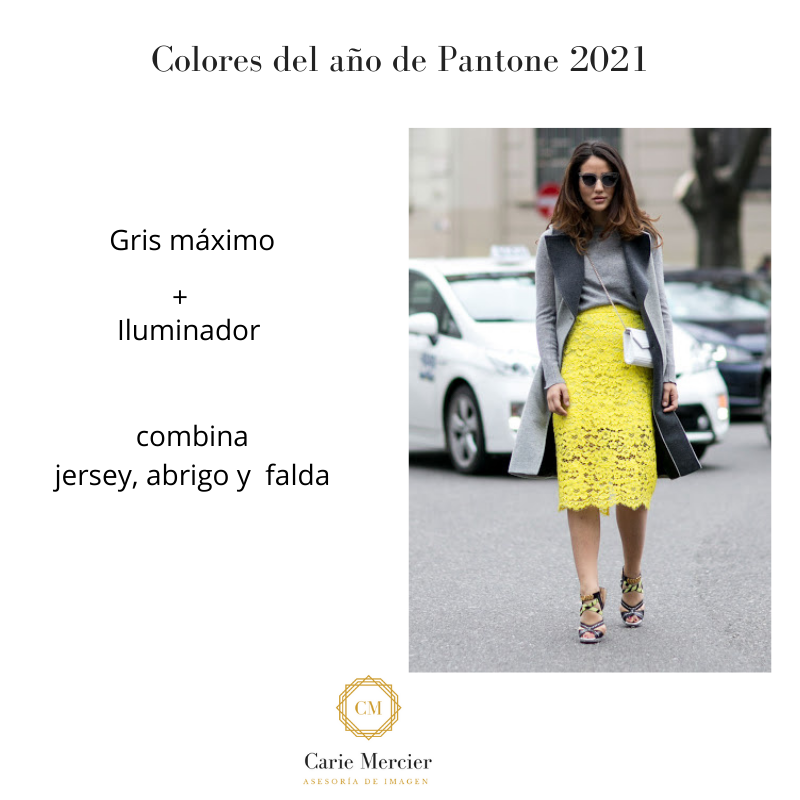 falda y top color del año 2021 Pantone